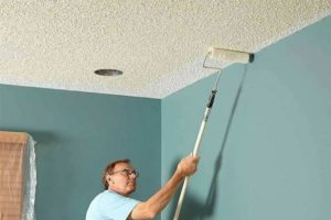 Какой краской красить гипсокартонный потолок