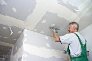 Покраска потолков из гипсокартона: выбор красителя и этапы работ