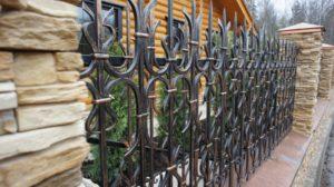 Кованый забор своими руками