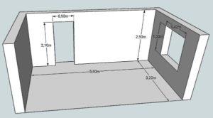 Найдите площадь которую занимает коридор