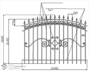 Кованый забор своими руками: поэтапная инструкция